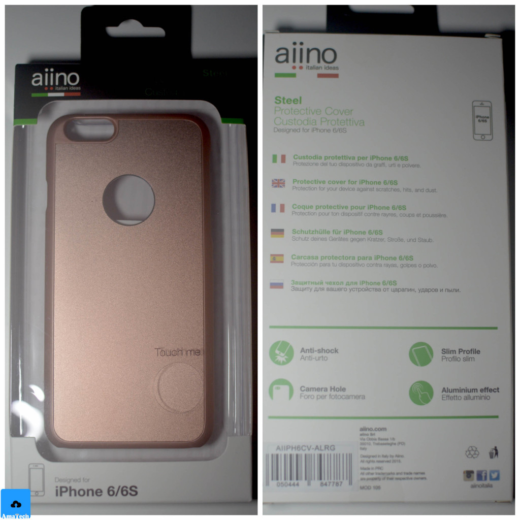 cover case rose gold aiino
