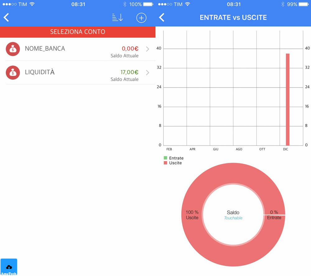 recensione app ios per tenere sotto controllo guadagni e spese