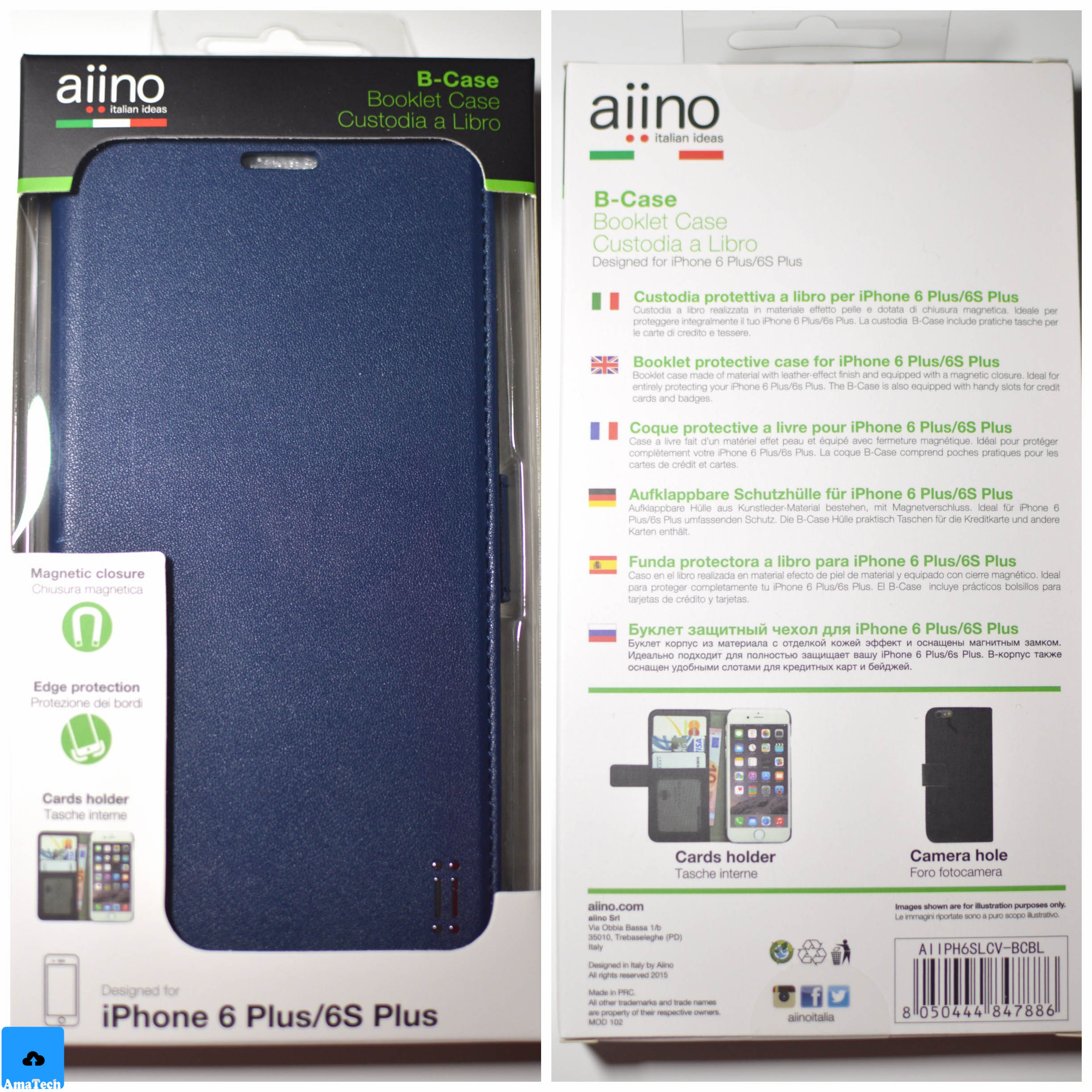 aiino custodia iphone 6 libro