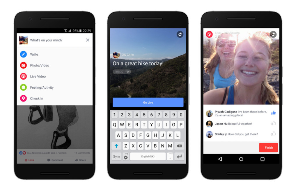 live video Facebook presto su Android
