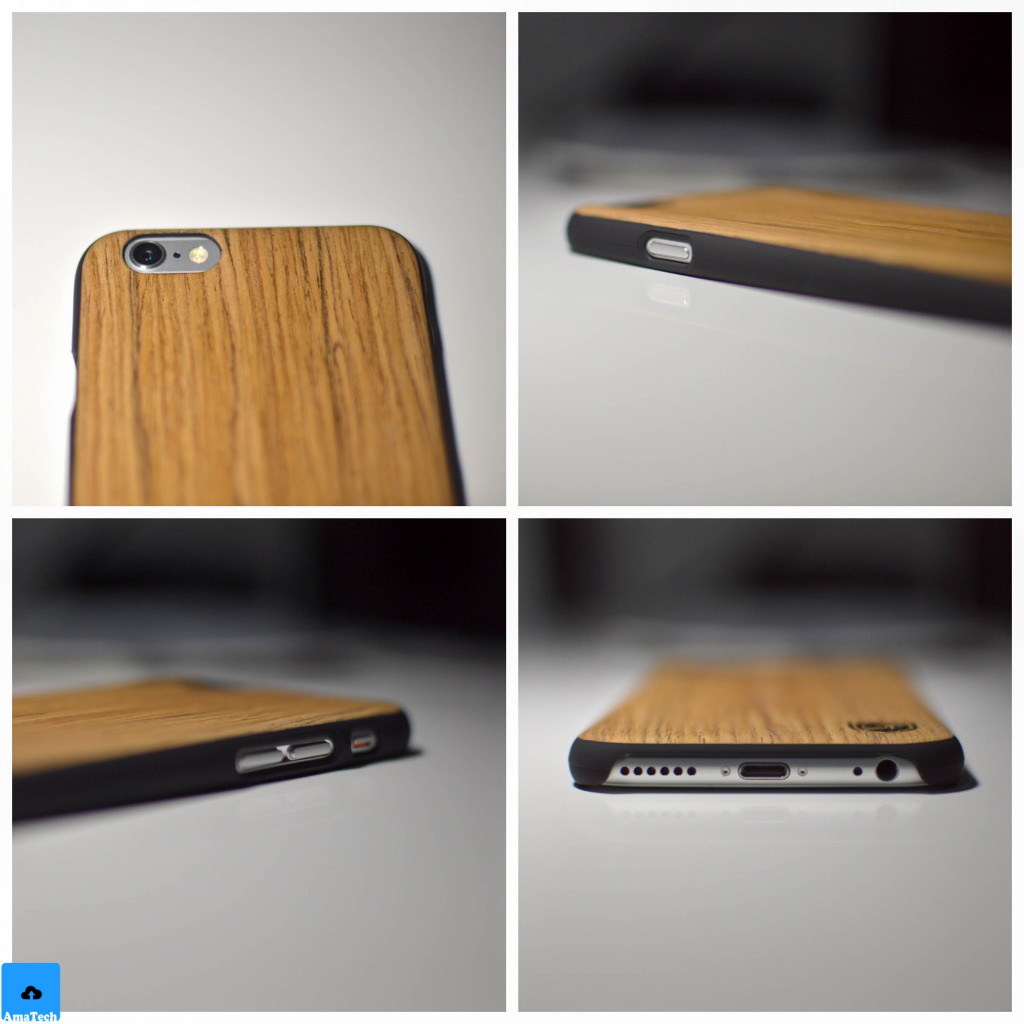 recensione cover case legno Utection iPhone 6 iPhone 6S palissandro
