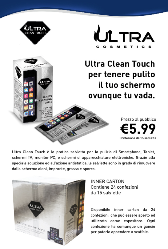 Salviette umide pulizia Smartphone Ultra Cosmetics