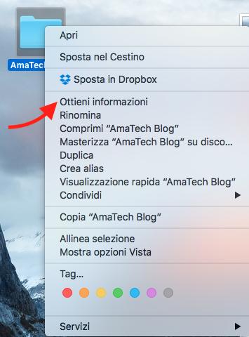 guida cambiare icona cartella mac