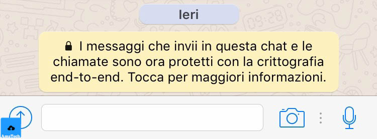 cos è la crittografia end-to-end WhatsApp