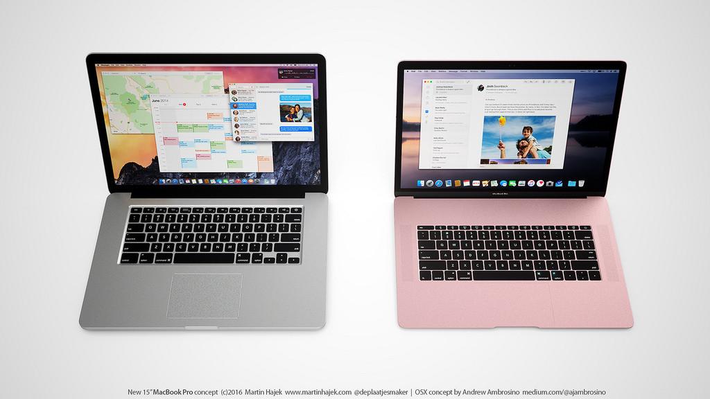 nuovo MacBook Pro 2016 in un concept di Martin Hajek