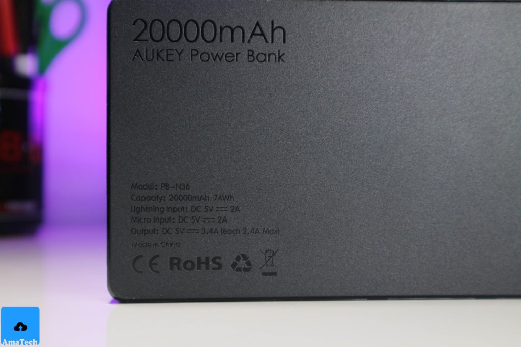 Powerbank aukey 20000mAh PB-N36