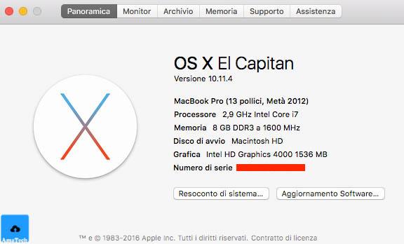 problema macbook pro dopo aggiornamento os x el capitan
