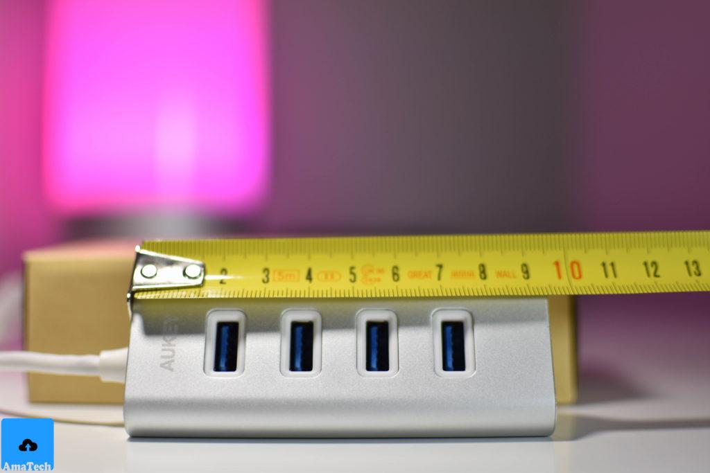 recensione Hub USB C a 4 porte USB Aukey