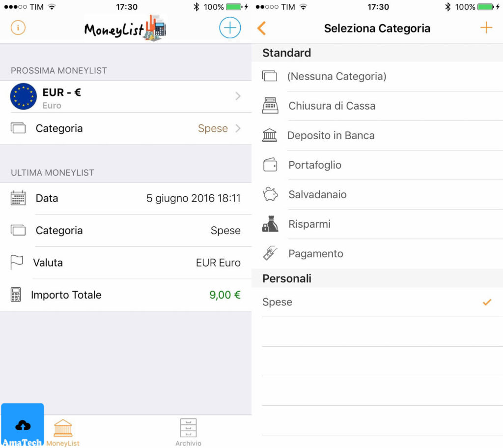 MoneyList app iOS