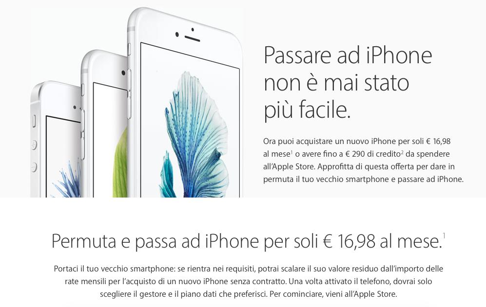 Permutare iPhone per avere il modello nuovo