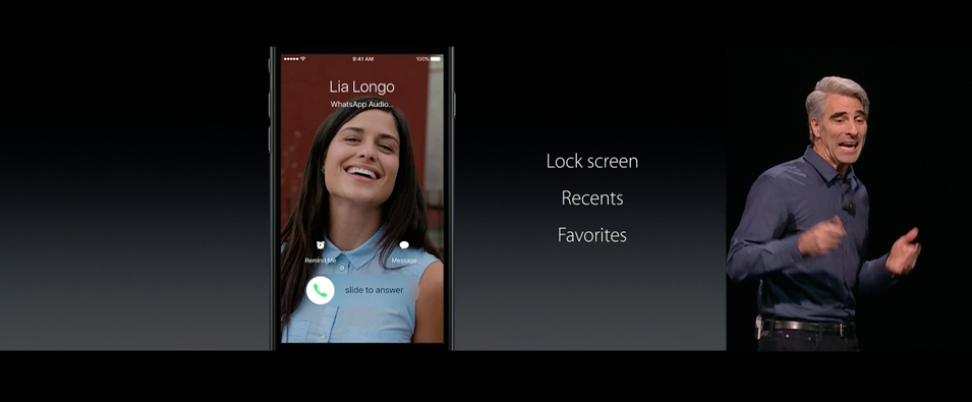 app Telefono iOS 10