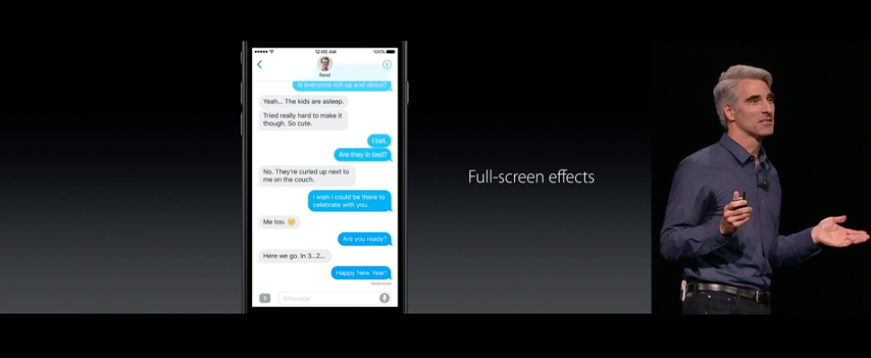 full screen iMessage