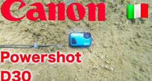 recensione canon powershot d30 subacquea