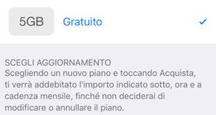 Nuovi aggiornamenti piani iCloud in sconto