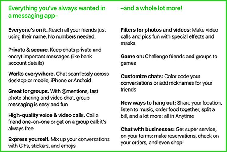 app di messaggistica Amazon sviluppo