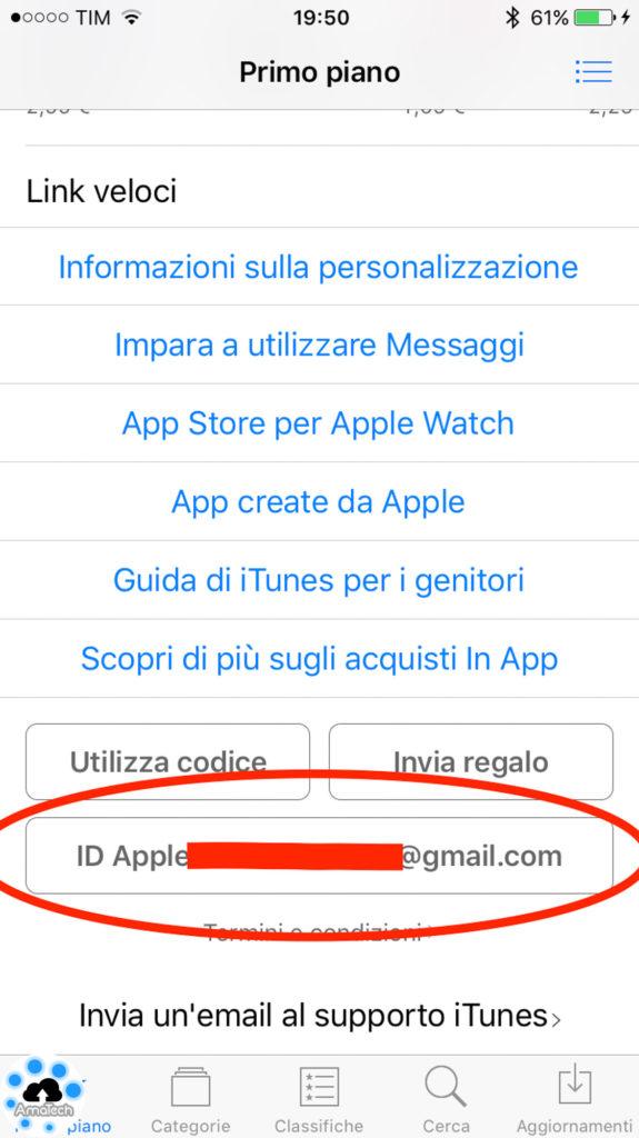 attivare pagamento paypal app store