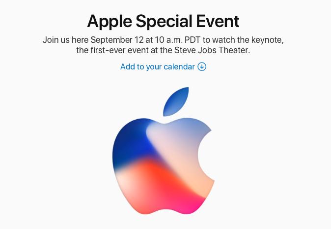 Evento Apple ufficiale il 12 Settembre