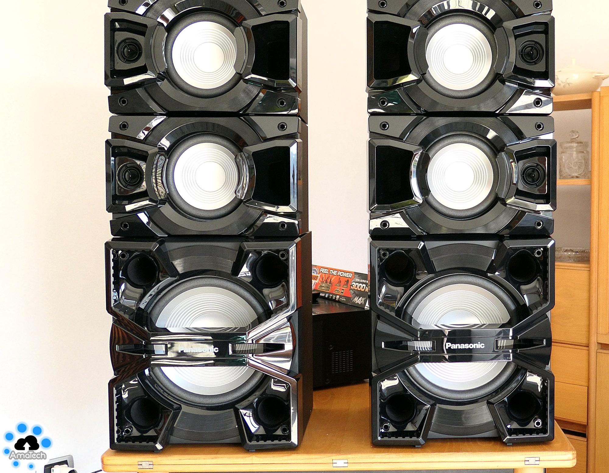 Recensione panasonic sc max7000 impianto hi fi per casa da 3000w home audio amatech - Impianto audio casa ...