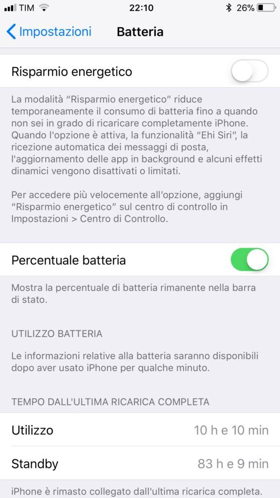 durata batteria iPhone 8 Plus