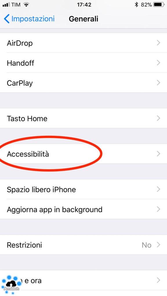 guida attivare disattivare luminosità automatica iOS 11