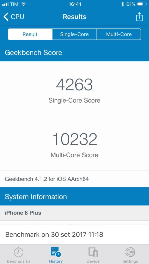 iPhone 8 Plus benchmark
