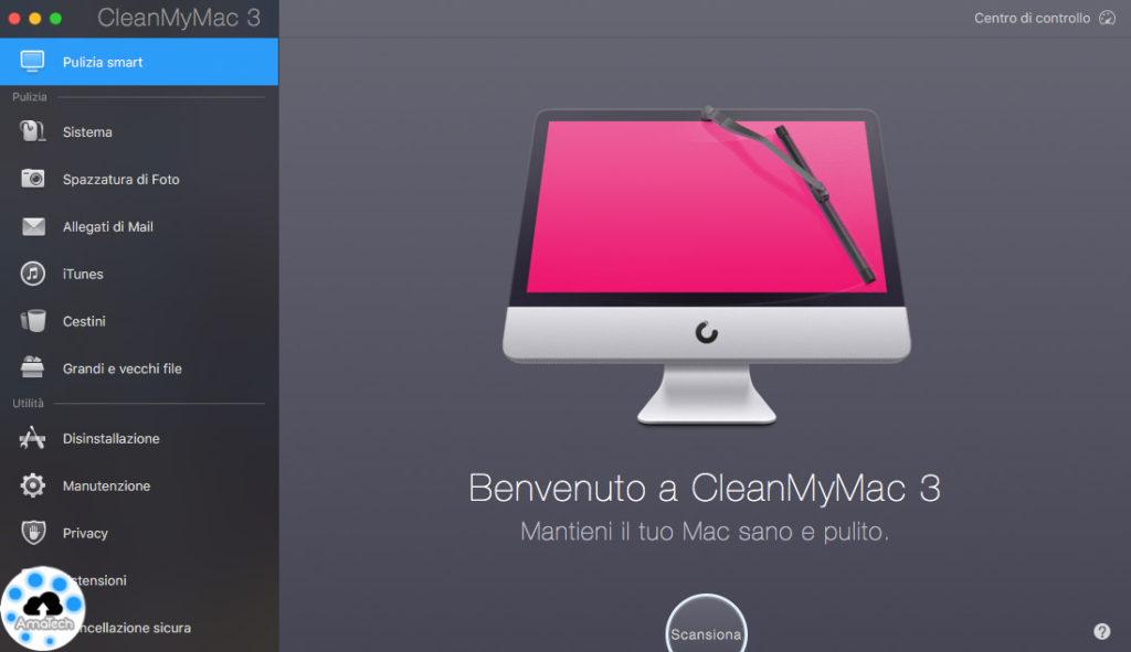 tenere pulito il mac con cleanmymac