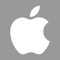 Apple logo grigio