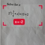 risolvere equazione matematica con iPhone