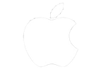 apple LOGO white