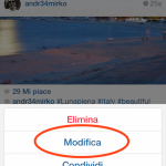 nuovo aggiornamento instagram modificare i commenti