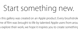 Campagna Start Something New Apple